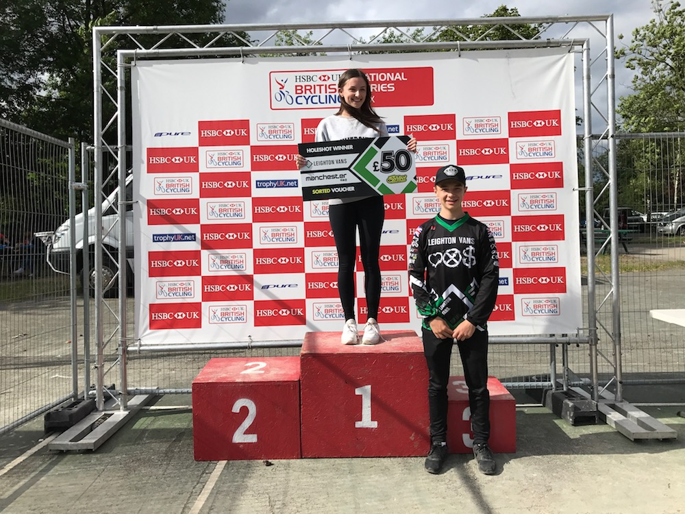 LEIGHTON VANS HOLESHOT AWARD AT ROUND 8 OF THE 2017 NATIONAL SERIES, MANCHESTER